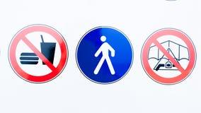 Raccolta dei segni di proibizione Fotografie Stock