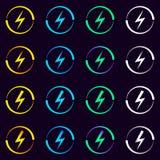Raccolta dei segni elettrici Vettore illustrazione di stock