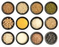 Raccolta dei semi e dei cereali isolata Fotografia Stock Libera da Diritti