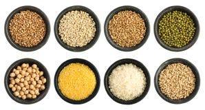 Raccolta dei semi e dei cereali isolata Immagine Stock Libera da Diritti