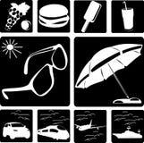 Raccolta dei simboli del viaggio Immagini Stock Libere da Diritti