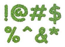 Raccolta dei simboli di lettera di alfabeto dalla lemma Fotografie Stock