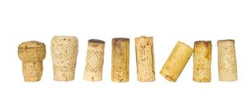 Raccolta dei sugheri del vino Fotografia Stock Libera da Diritti