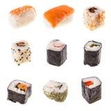 Raccolta dei sushi Immagini Stock