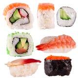 Raccolta dei sushi Fotografie Stock Libere da Diritti