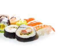 Raccolta dei sushi, isolata su fondo bianco Fotografia Stock Libera da Diritti