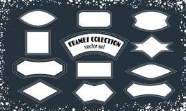 Raccolta dei telai in bianco, fondo per testo per la vostra progettazione fotografia stock