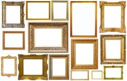 Raccolta dei telai isplated Immagine Stock