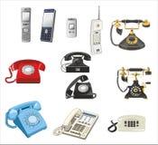 Raccolta dei telefoni, comunicazione Fotografia Stock Libera da Diritti