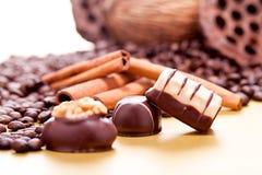 Raccolta dei truffels differenti delle praline del cioccolato Fotografia Stock Libera da Diritti