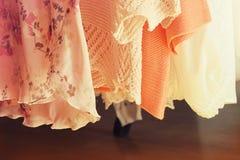 Raccolta dei vestiti delle donne Fotografia Stock Libera da Diritti