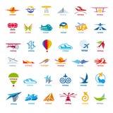 Raccolta dei voli del logos di vettore Fotografia Stock