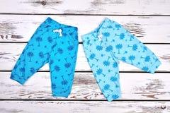 Raccolta del bambino dei pantaloni di estate Immagine Stock