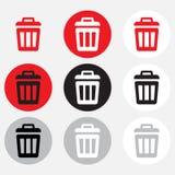 Raccolta del bidone della spazzatura illustrazione di stock