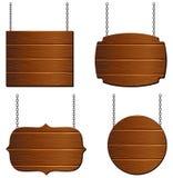 Raccolta del bordo di legno immagini stock libere da diritti