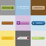 Raccolta del bottone di web Fotografie Stock