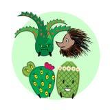 Raccolta 2 del cactus Immagine Stock