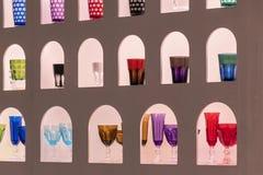 Raccolta del campione dei vetri colorati Fotografia Stock Libera da Diritti