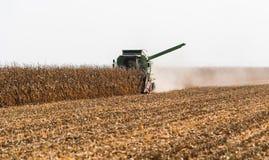 Raccolta del campo di grano con l'associazione immagini stock