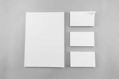 Raccolta del catalogo, della rivista, del modello del libro e dell'affare in bianco Fotografie Stock