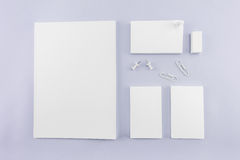 Raccolta del catalogo, della rivista, del modello del libro e dell'affare in bianco Fotografia Stock Libera da Diritti