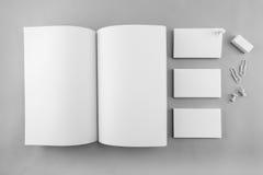 Raccolta del catalogo, della rivista, del modello del libro e dell'affare in bianco Immagine Stock