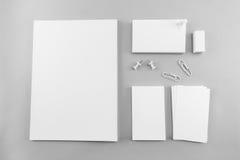 Raccolta del catalogo, della rivista, del modello del libro e dell'affare in bianco Immagini Stock Libere da Diritti