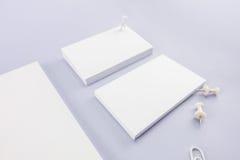 Raccolta del catalogo, della rivista, del modello del libro e dell'affare in bianco Fotografia Stock