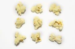 Raccolta del cereale di schiocco isolata su bianco Fotografie Stock