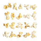 Raccolta del cereale di schiocco su fondo bianco Fotografia Stock Libera da Diritti