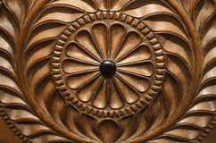 Raccolta del Ceylon: Scultura del legno Fotografia Stock Libera da Diritti