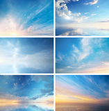 Raccolta del cielo Fotografia Stock