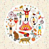 Raccolta del circo Fotografia Stock Libera da Diritti