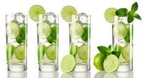 Raccolta del cocktail di Mojito Fotografia Stock