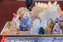 Raccolta del cristallo di quarzo di Pongkaam elaborato Bello amuleto Fotografia Stock Libera da Diritti