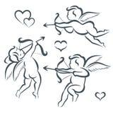 Raccolta del cupido di giorno di biglietti di S. Valentino Fotografia Stock