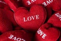 Raccolta del cuscino dei cuori di amore Fotografia Stock