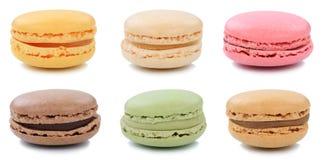 Raccolta del dessert della raccolta dei biscotti dei maccheroni dei macarons da Fotografia Stock