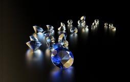 Raccolta del diamante dei gioielli su buio royalty illustrazione gratis
