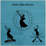 Raccolta del distintivo di caccia dei cervi Immagini Stock Libere da Diritti