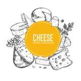 Raccolta del formaggio Vettore 3 royalty illustrazione gratis