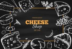 Raccolta del formaggio Vettore 3 disegnati a mano illustrazione di stock