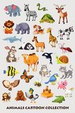 Raccolta del fumetto degli animali per i bambini Fotografia Stock Libera da Diritti