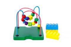 Raccolta del giocattolo del bambino, mattoni del giocattolo Immagine Stock Libera da Diritti