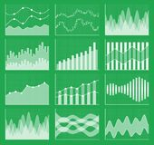 Raccolta del grafico di affari Insieme dei grafici Visualizzazione di dati Immagini Stock Libere da Diritti