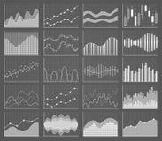 Raccolta del grafico di affari Insieme dei grafici Visualizzazione di dati Immagine Stock