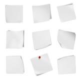 Raccolta del Libro Bianco del vario spazio in bianco dell'opuscolo su fondo bianco. Fotografia Stock