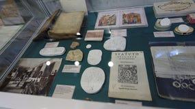 Raccolta del manoscritto e del libro dell'accademico N P Likhachev Fotografia Stock