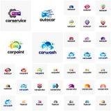 Raccolta del modello di progettazione di logo dell'automobile Concetti di progetto automatici di logo dell'automobile fotografia stock libera da diritti