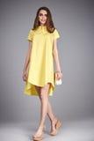 Raccolta del modello di trucco di usura dei vestiti del vestito dalla donna Fotografie Stock